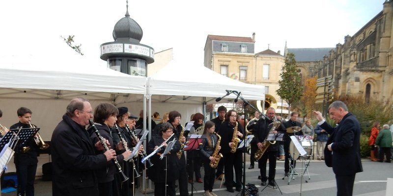 L'Union Musicale Bergeracoise renouvelle son répertoire à chaque cérémonie.
