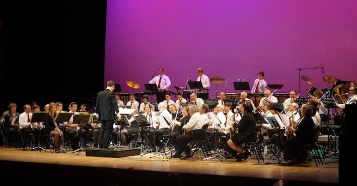 l'Orchestre de l'Union Musicale Bergeracoise lors du concert du nouvel an 2014